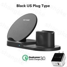 Load image into Gallery viewer, 3 in 1 Fast Wireless Charger Dock Station Fast Charging For iPhone 11 11 Pro XR XS Max 8 for Apple Watch 2 3 4 5 For AirPods Pro