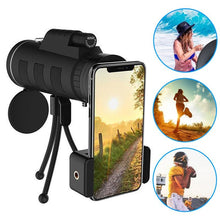 Load image into Gallery viewer, Lens for phone 40X60 Zoom for Smartphone Monocular Telescope