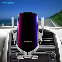 Load image into Gallery viewer, Automatic Clamping Car Wireless Charger 10W Quick Charge for Iphone 11 Pro XR XS