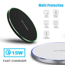 Load image into Gallery viewer, 15W Wireless Charger for iPhone X Xs MAX XR 8 plus Fast Charging for Samsung S8 S9 Plus Note 9 8 USB Phone Charger Pad
