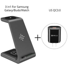 Load image into Gallery viewer, 3 in 1 Wireless Charging Station For iPhone11Pro/Xr/Xs/AirPods Pro/iWatch5  Wireless Charger For SamsungS10/Buds/Watch