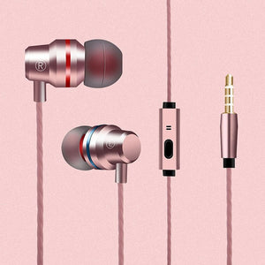 3.5mm Universal Stereo Bass In-Ear Earphones With Microphone
