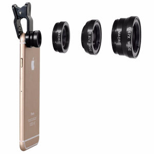 Mobile Phone Lens 3 in 1 Kit