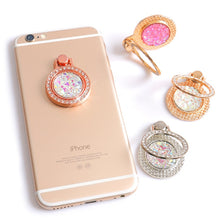 Load image into Gallery viewer, Luxury 360 Degree Finger Ring Diamond Floral Smartphone Holder