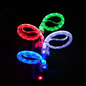 Luminous Tube USB Led Charging Cable for iPhone or Android