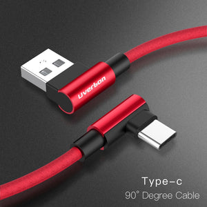 90 Degree Fast Charging USB Cable for iPhone or Samsung