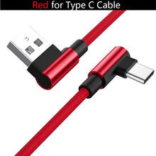 Load image into Gallery viewer, 90 Degree Fast Charging USB Cable for iPhone or Samsung