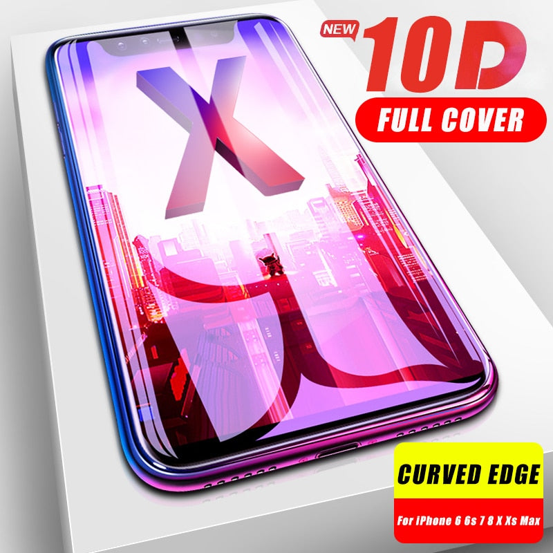 Full Cover 10D Strength Tempered Protective Glass For iPhone