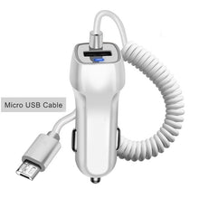 Load image into Gallery viewer, Fast Charging Car Charger with Retractable Cable for iPhone or Samsung