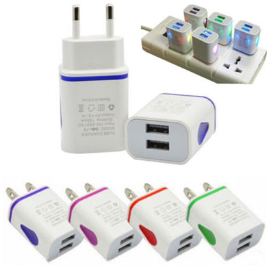 LED Dual USB Wall Charger