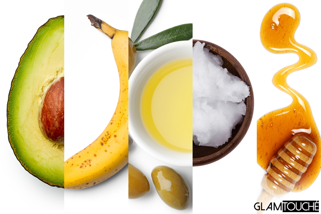Hair mask for healthy curls: avocado, banana, olive oil, coconut oil, honey