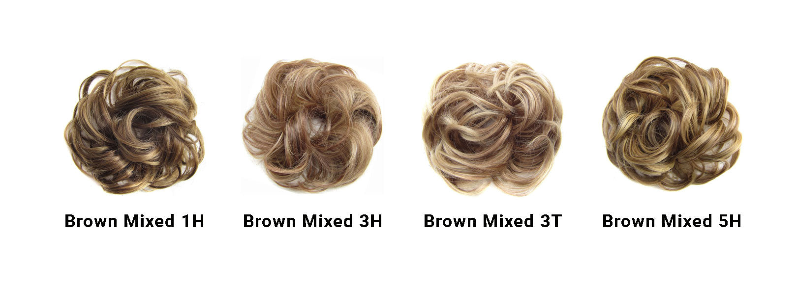 Messy Bun Brown Mixed Set