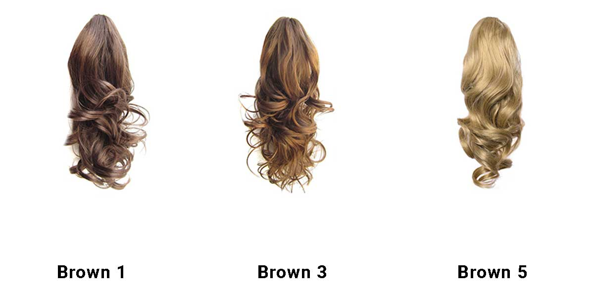 Ponytail Short Brown Set