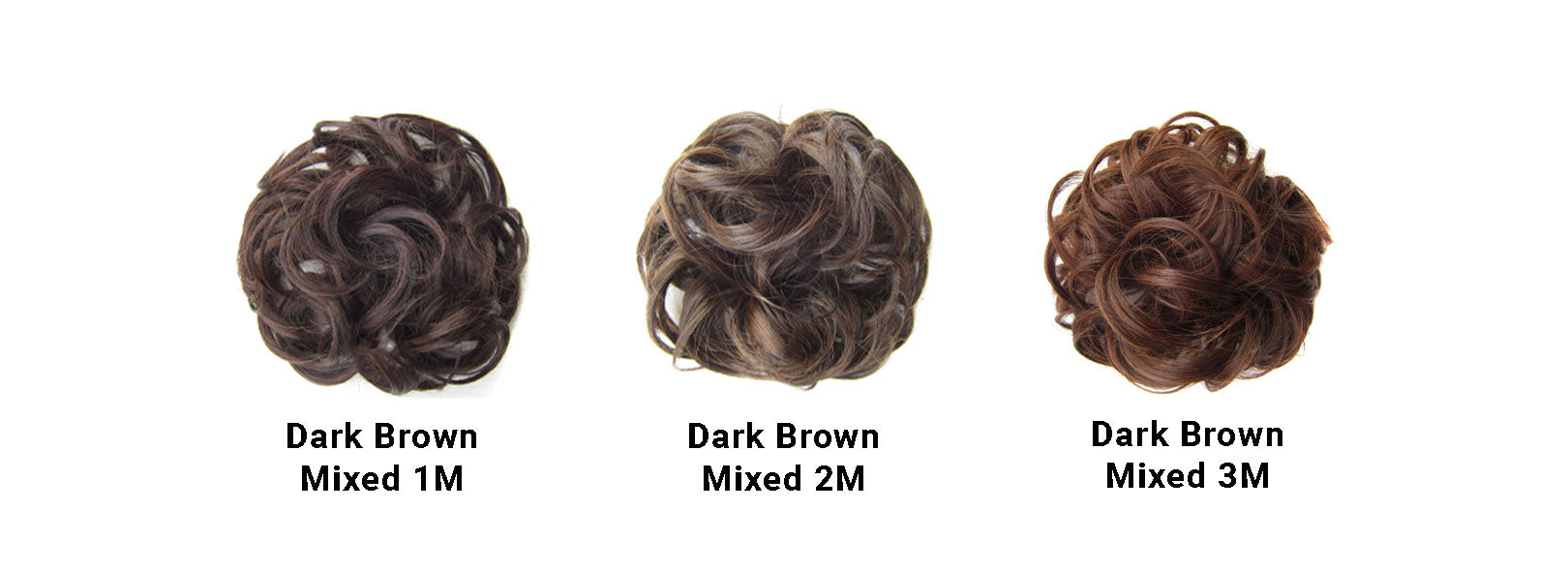 Messy Bun Dark Brown Mixed Set
