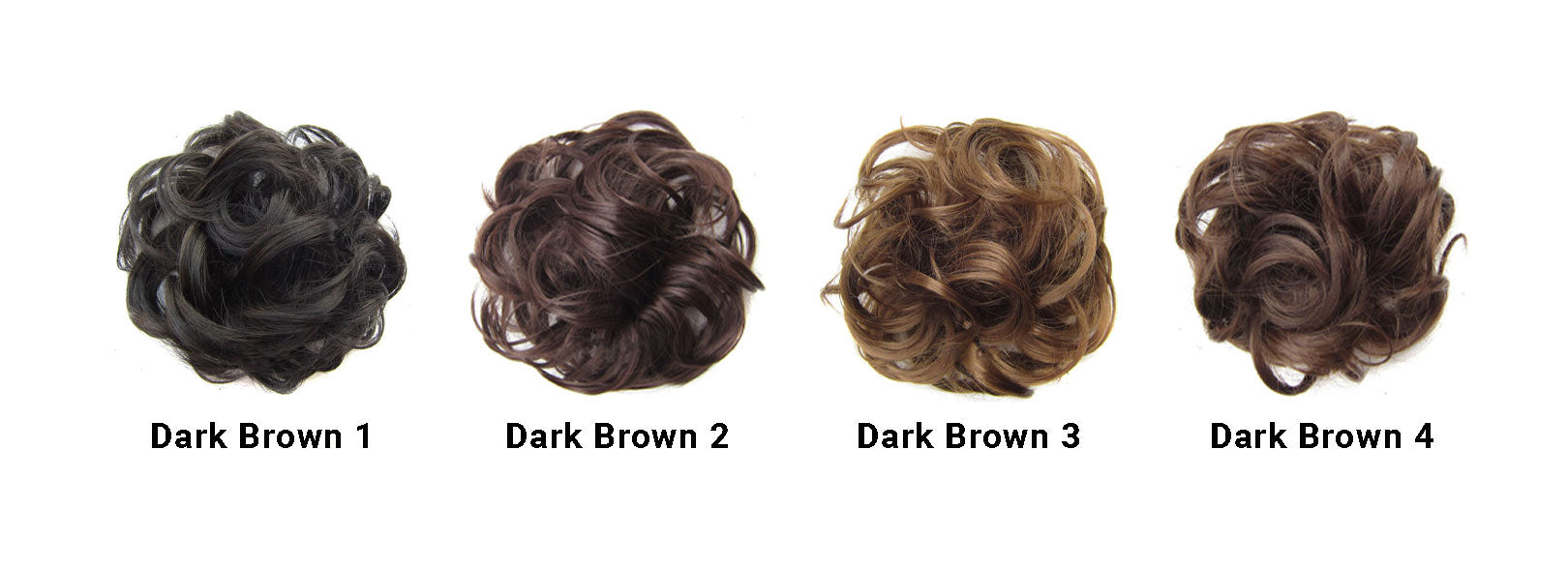 Messy Bun Dark Brown Set