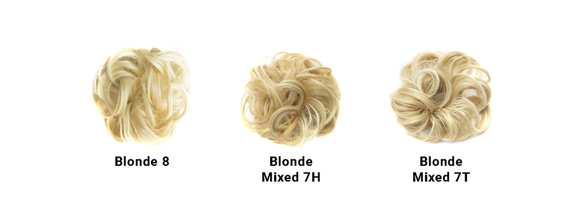 Messy Bun Light Blonde Set