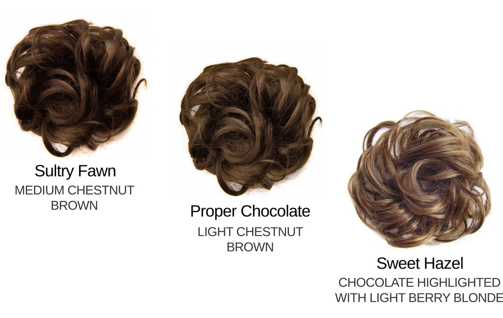 Messy Bun Medium / Light Brown set
