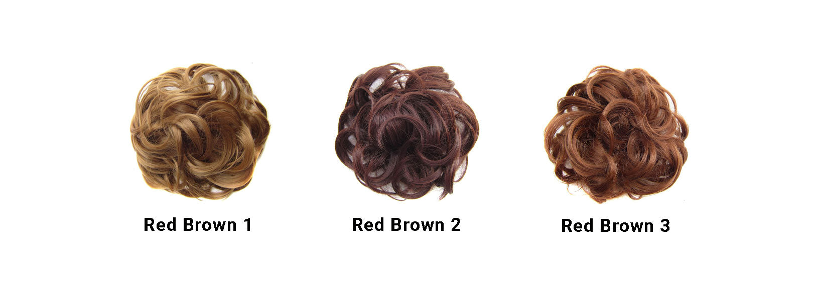 Messy Bun Red Brown Set