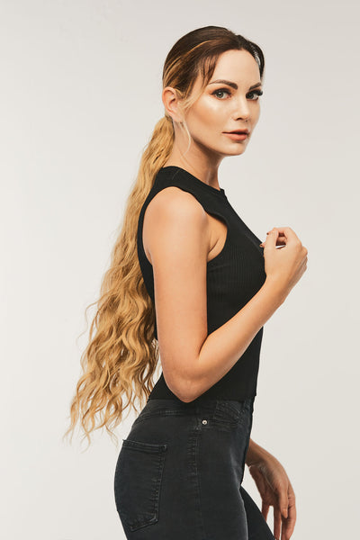 Wrap Around Wavy Ponytail