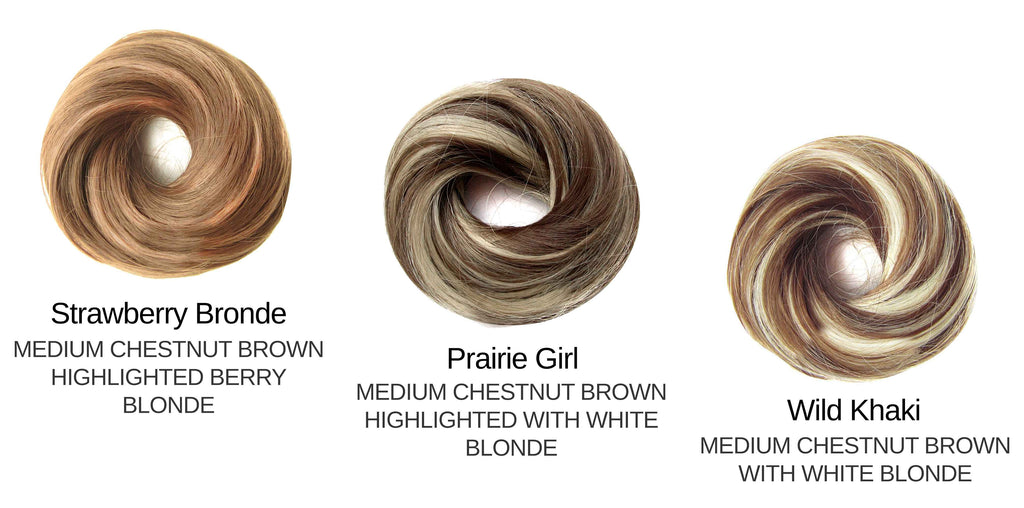 Tousled Bun Brown Highlights Set