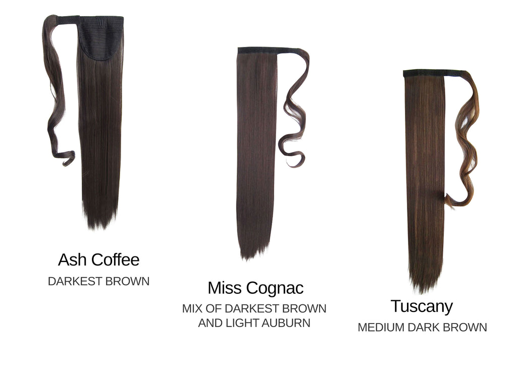 Wrap around straight - Dark brown Set