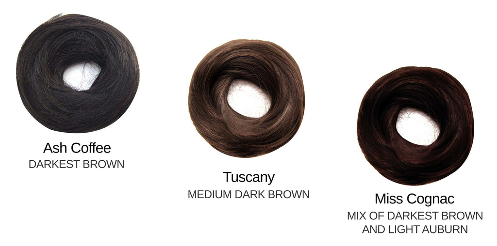 Tousled Bun Dark Brown Set