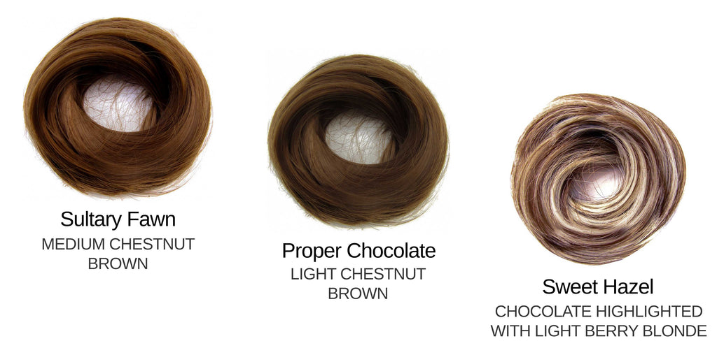 Tousled Bun Medium / Light Brown set
