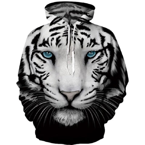 3D Tiger Print Hooded Sweatshirt - Treat Yourself Emporium