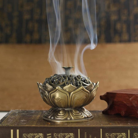 Lotus Flower Incense Burner - Treat Yourself Emporium