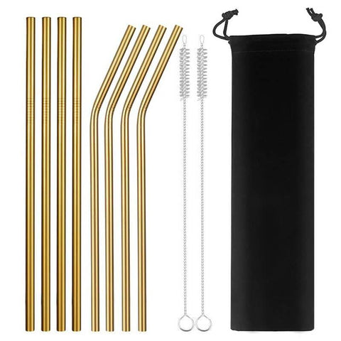 Reusable Stainless Steel Straws - Treat Yourself Emporium
