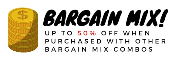 Bargain Mix! Up to 50% off when purchased with other Bargain Mix combos