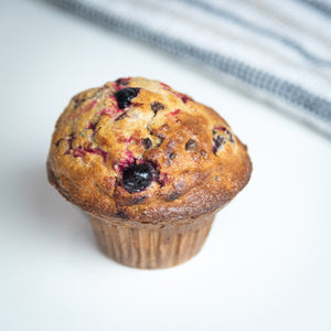 Muffin aux canneberges et chocolat