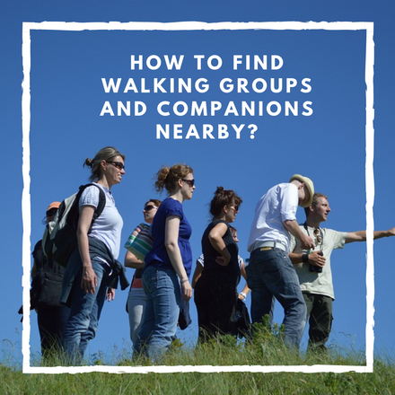 How to find walking groups and companions nearby?