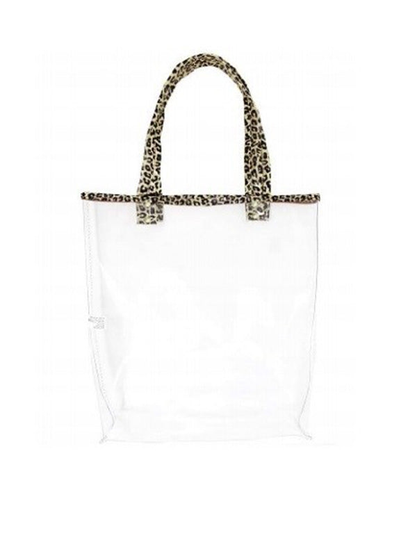 Clear Leopard Tote Bag