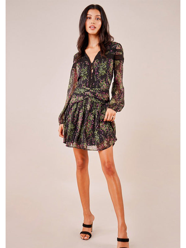 Beni Long Sleeve Floral Dress