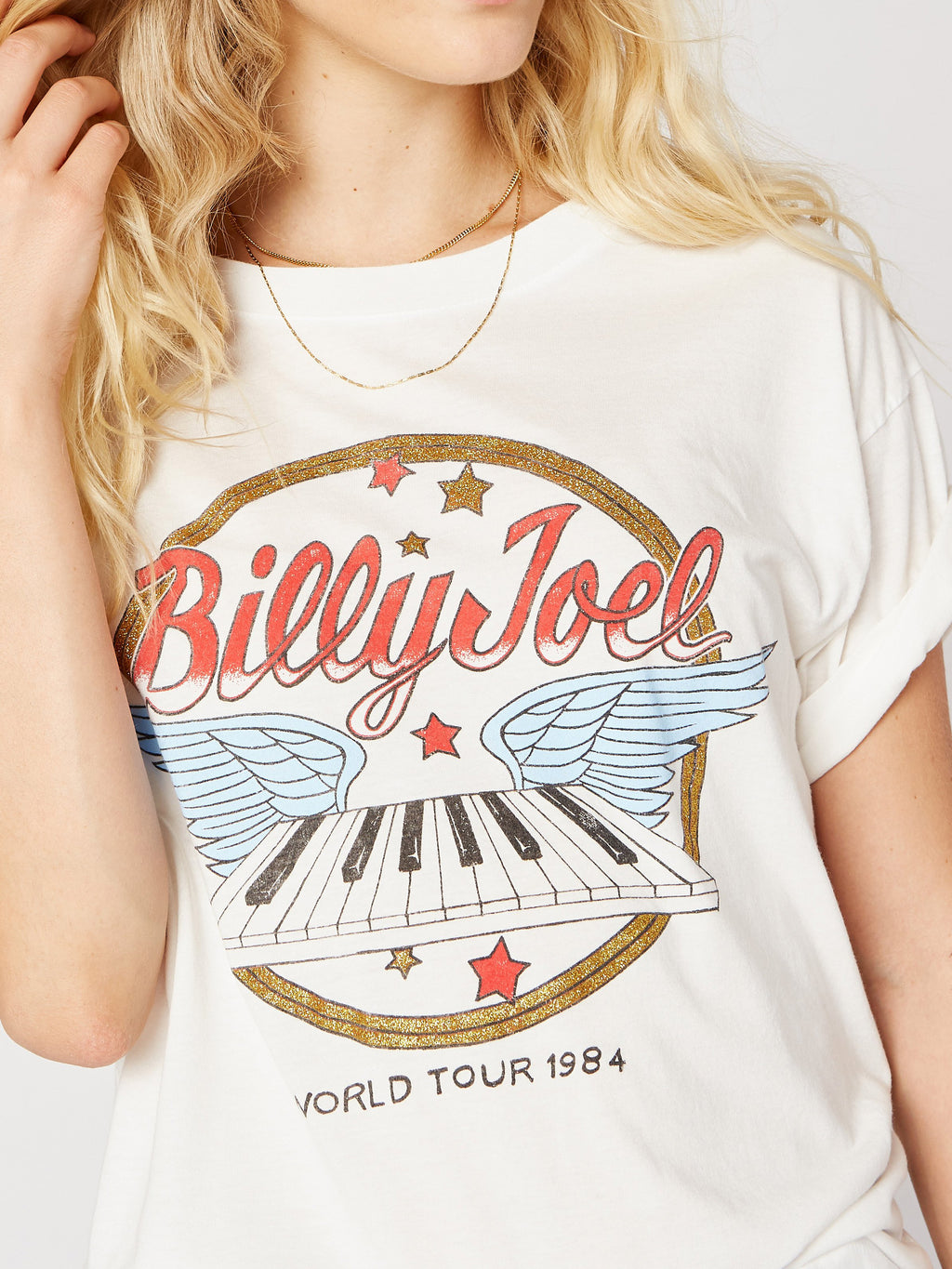 Billy Joel World Tour 1984 Boyfriend Tee