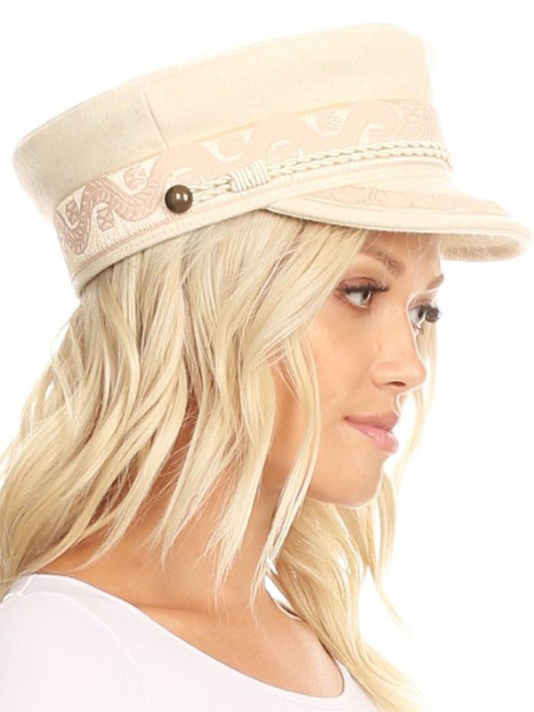 Carly Conductor Hat - Cream
