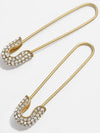 Safety Pin Earrings - Crystal