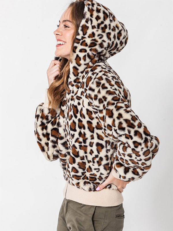 Hazel Leopard Hooded Jacket