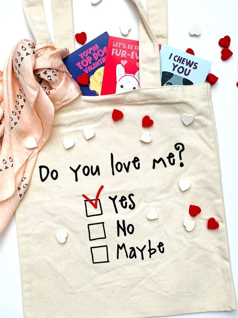 'Do You Love Me' Eco Friendly Tote Bag