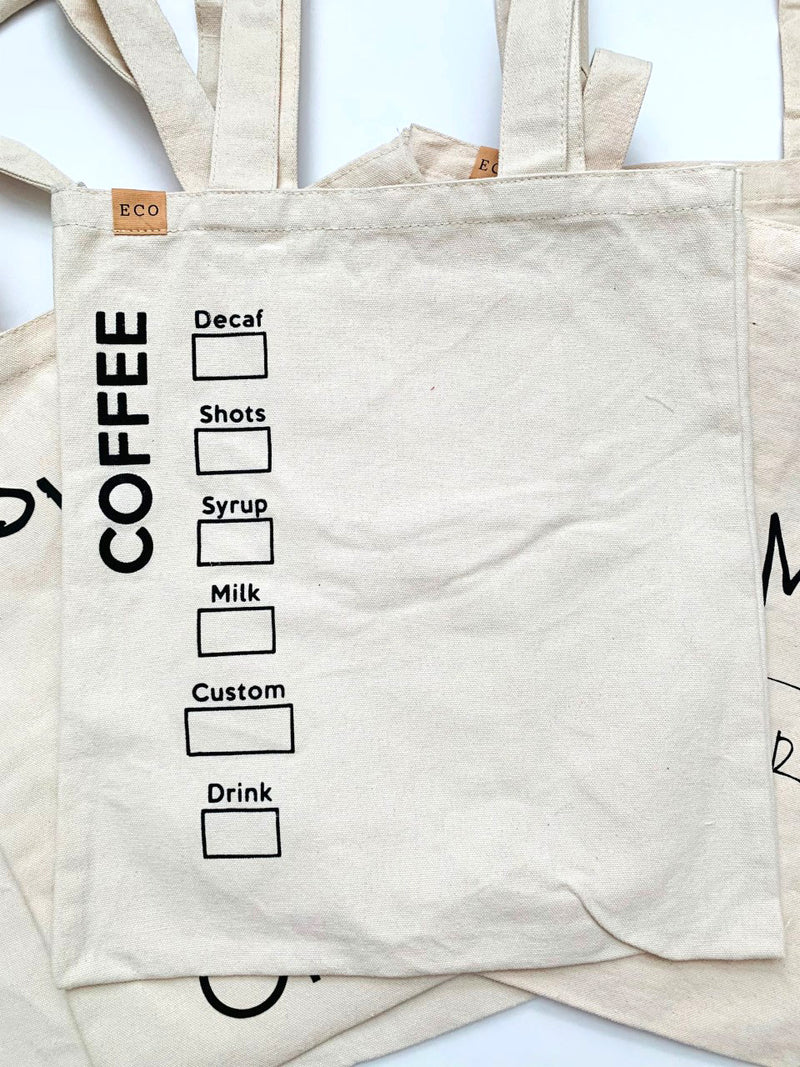'Coffee' Eco Friendly Tote Bag
