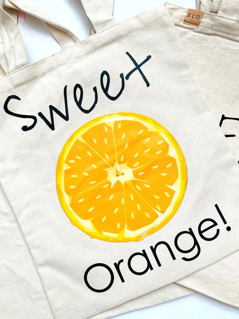 'Sweet Orange' Eco Friendly Tote Bag