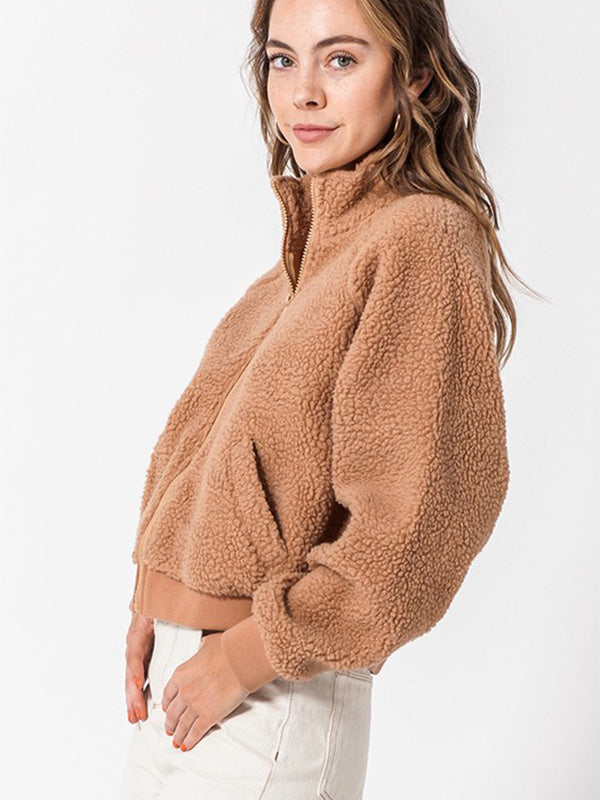 Fozzie Zip Up Jacket - Toffee