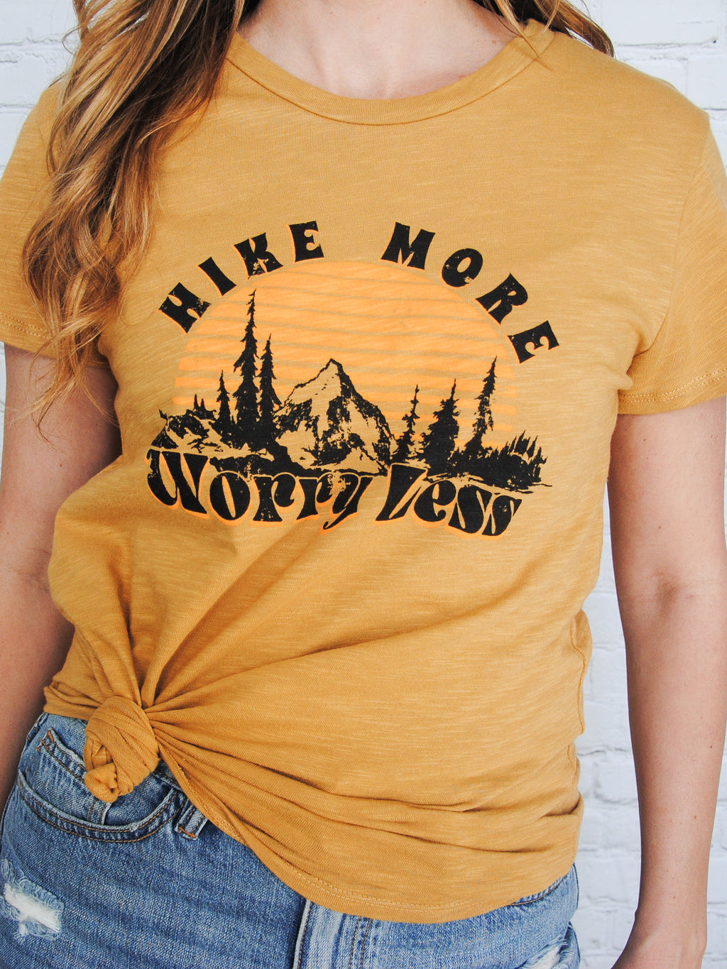 Take a Hike Graphic Tee - Mustard
