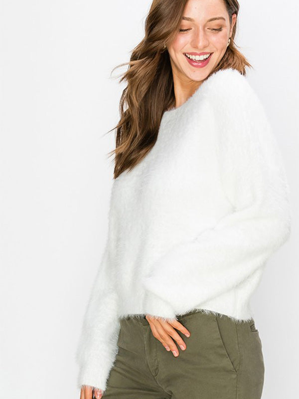 Vail L/S Pullover Fuzzy Sweater