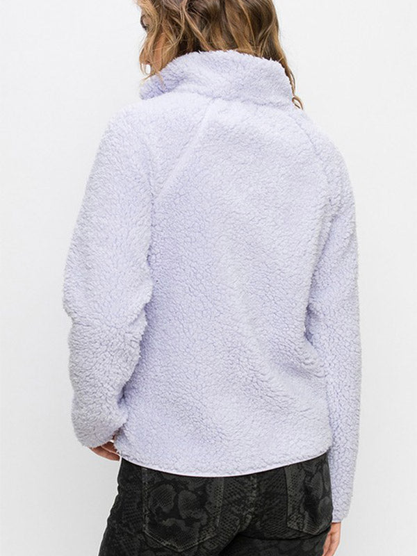 Soft & Cozy Fleece Jacket -Lavender