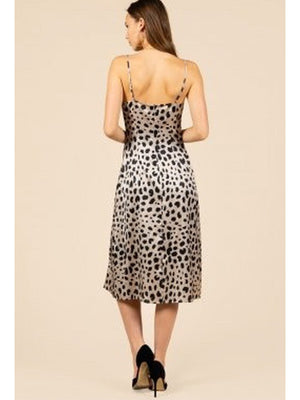 Katarina Animal Print Slip Dress