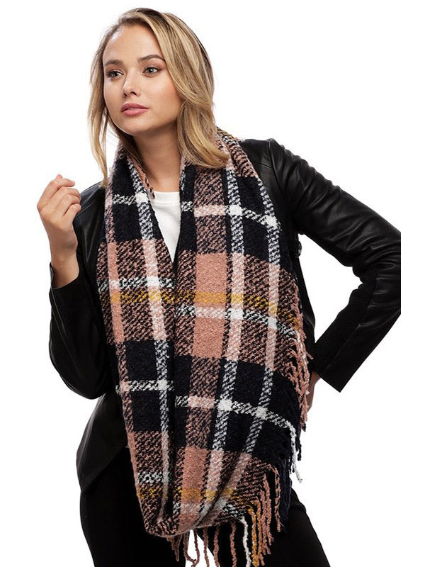 Perfectly Pink Plaid Scarf