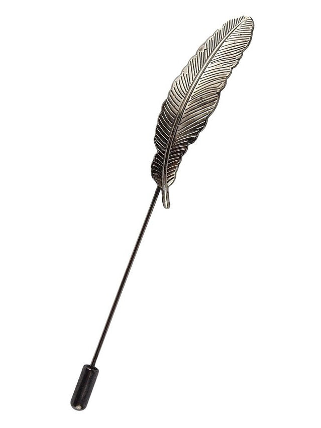 Silver Feather Hat Pin