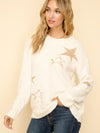 Star Gazer Soft Metallic Pullover Sweater